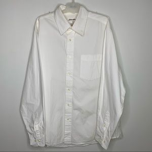 Eddie Bauer L White Cotton Long Sleeve Dress Shirt